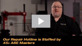 Our Repair Hotline is Staffed by 45+ ASE Masters